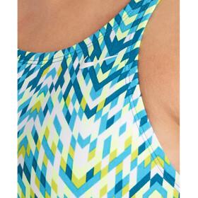 Nike Swim Digi Arrow Power Back Intero Donna, colorato